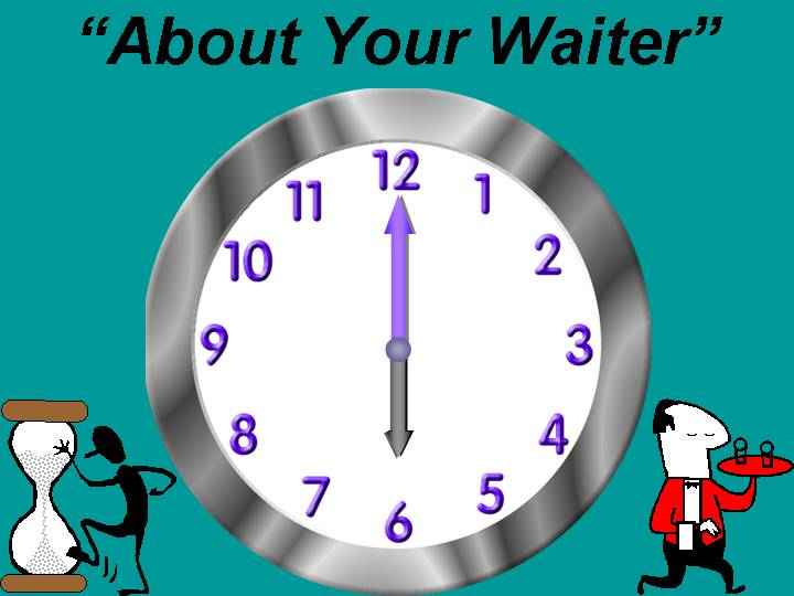 About your waiter, patience, wait on the Lord, Isaiah 40:31