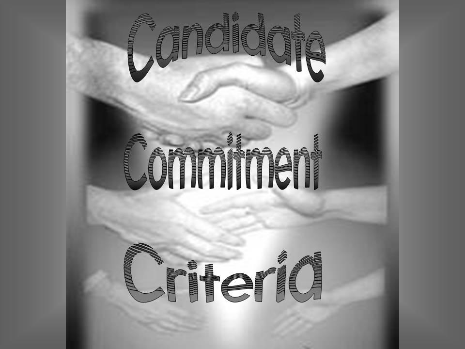 Candidating sermons