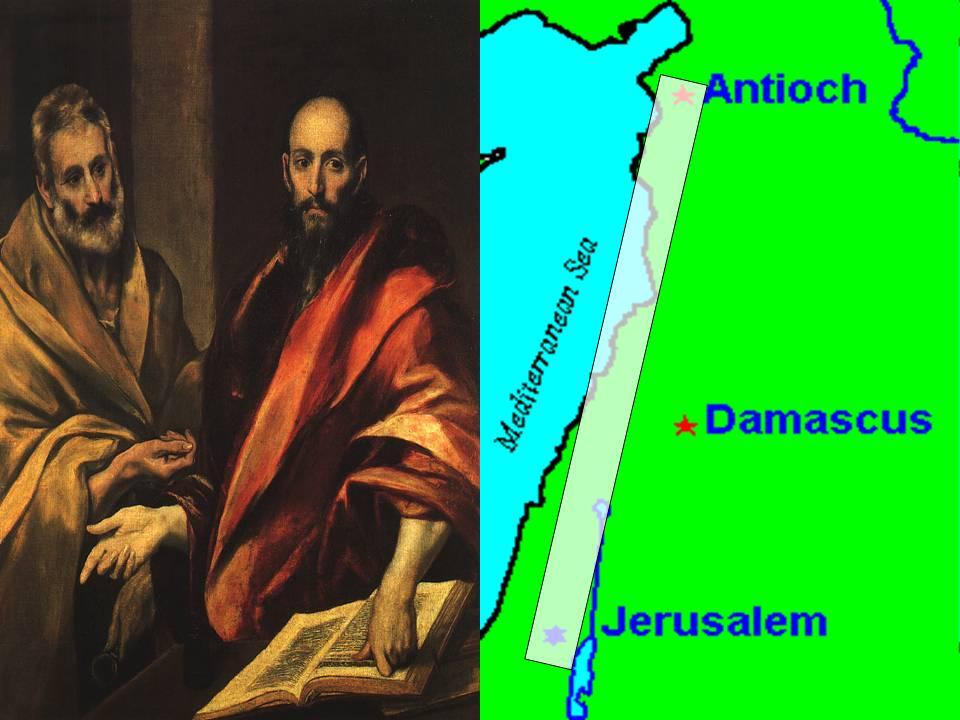 From Jerusalem to Antioch,  dans immagini sacre Jerusalem2Antioch