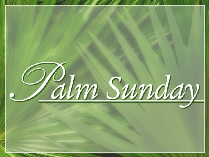 Palm sunday powerpoint template | easter sunday resurrection.