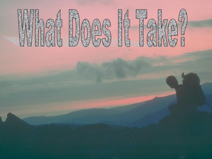 sermons - What Does It Take? What Must I Do To Be Saved? Acts 15