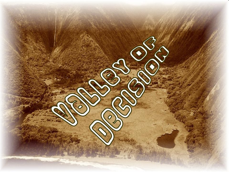 Valley of Decision, Joshua 8, Ai, Gerizim, Mt Ebal - free PowerPoint